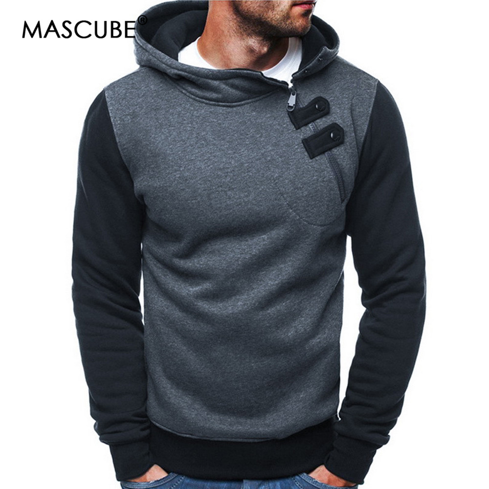 MASCUBE Men Sets Streetwear Men Hoodies Fashion Patchwork Hoodie Male Hip Hop Coat Pullover Men's Casual Tracksuits Masculino