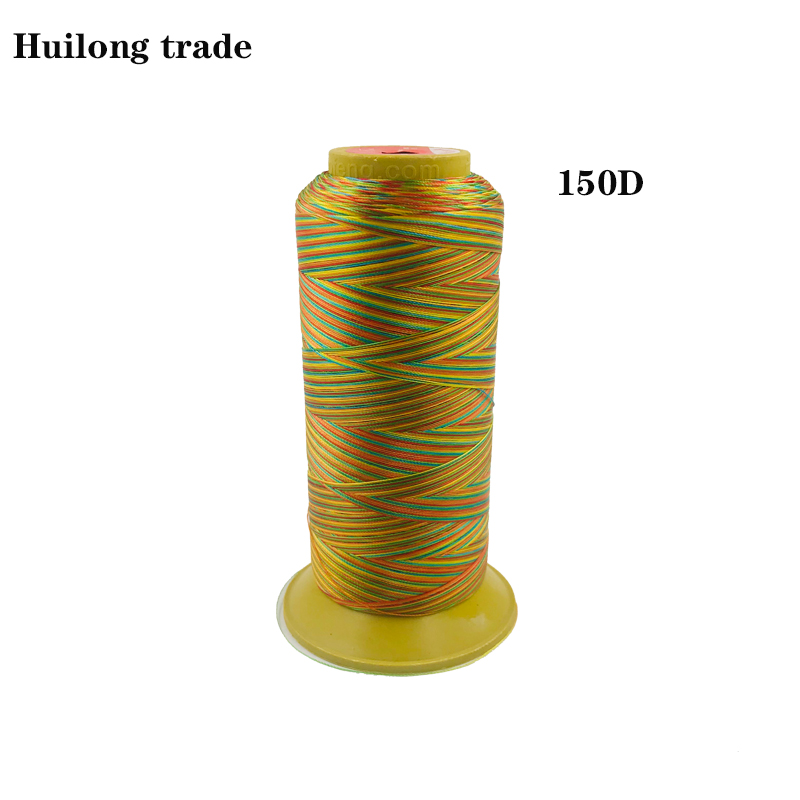 Color Rainbow Line 150D High Strength nylon Sewing thread Leather accessories Clothing Accessories in Sewing Threads from Home Garden