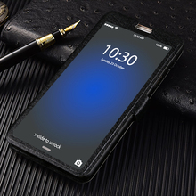 Flip Cover For Cubot X18 Plus H2 H3 Rainbow 2 Front Transparent View Window Case Note S R9 R11 Luxury Stand Cases
