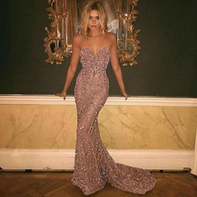 Elegant Lace Glamorous Sweetheart  Straps Mermaid Appliques Prom Party Dresses Formal Evening