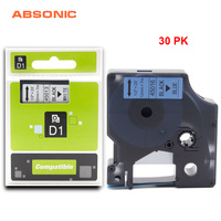 Absonic 30PCS 12mm 45016 Printer Ribbon DYMO Black on Blue Tape For Printer Dymo LabelManager 160 280 260P 420P PnP Lable Maker