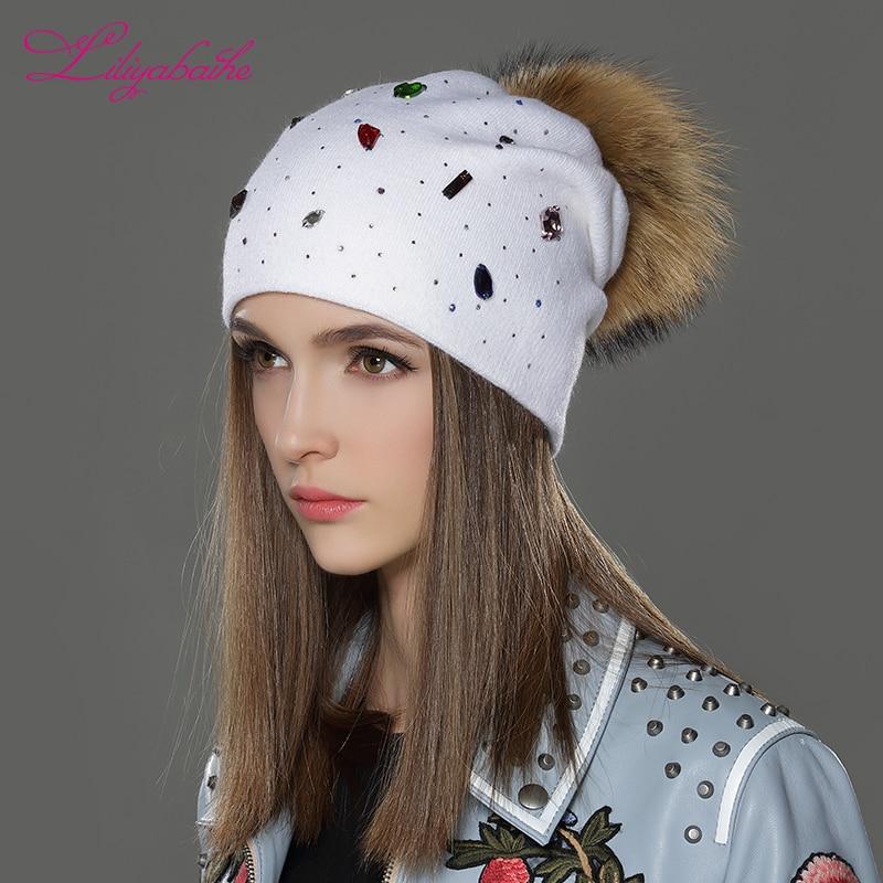 LILIYABAIHE Γυναίκες Χειμώνας Καπέλα μαλλί - Αξεσουάρ ένδυσης - Φωτογραφία 4