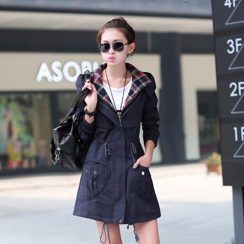 Fashion Trench Coat For Women Ladies Casual Windbreak Feminino Long Sleeve Female Outwear Coat Plus Size 2016