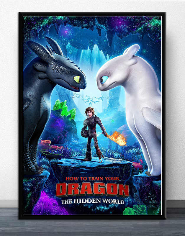 Fx057 How To Train Your Dragon The Hidden World 2019 Movie Film Poster Art Silk Light Canvas Modern Home Room Wall Print Decor Painting Calligraphy Aliexpress