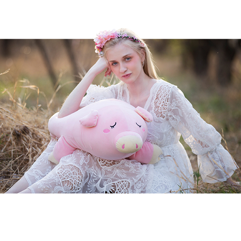 Plush Pink Piglet Cartoon Piggy Toys Soft Cute Pillow Super Soft Stuffed Animal Pig Dolls Best Gifts for Kids Friend Baby 65 38cm plush whales toys with soft pp cotton creative stuffed animal dolls cute whales toys fish birthday gift for children