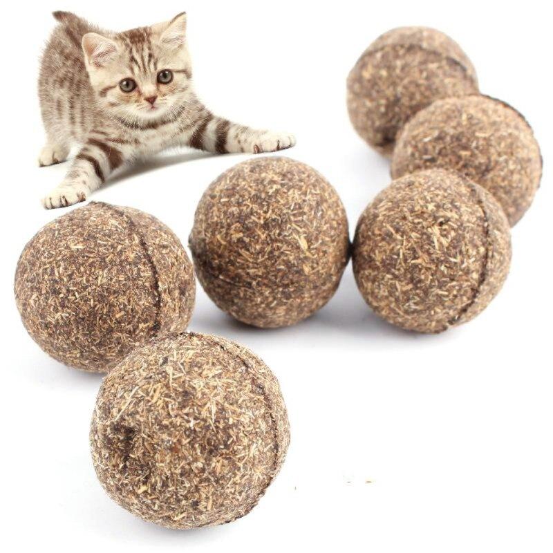 New Reliable Pet Cat Toy Natural Ball Healthy Menthol Flavor Cat Treats Edible Cats-go-crazy Treats Products Cat Supply