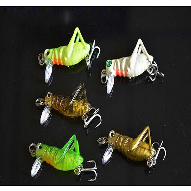 1pc 4cm 3g Flying Jig Wobbler Lure Grasshopper Insects