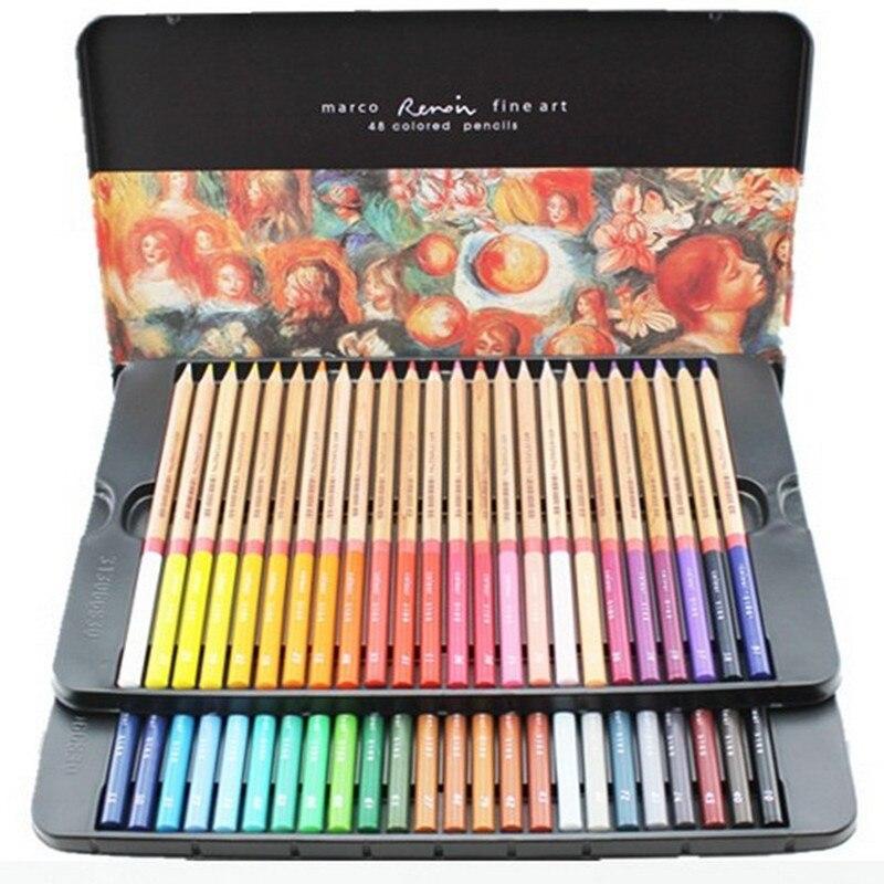 lapis de corcolored pencil 24 36 48 72 oily colored pencil tin