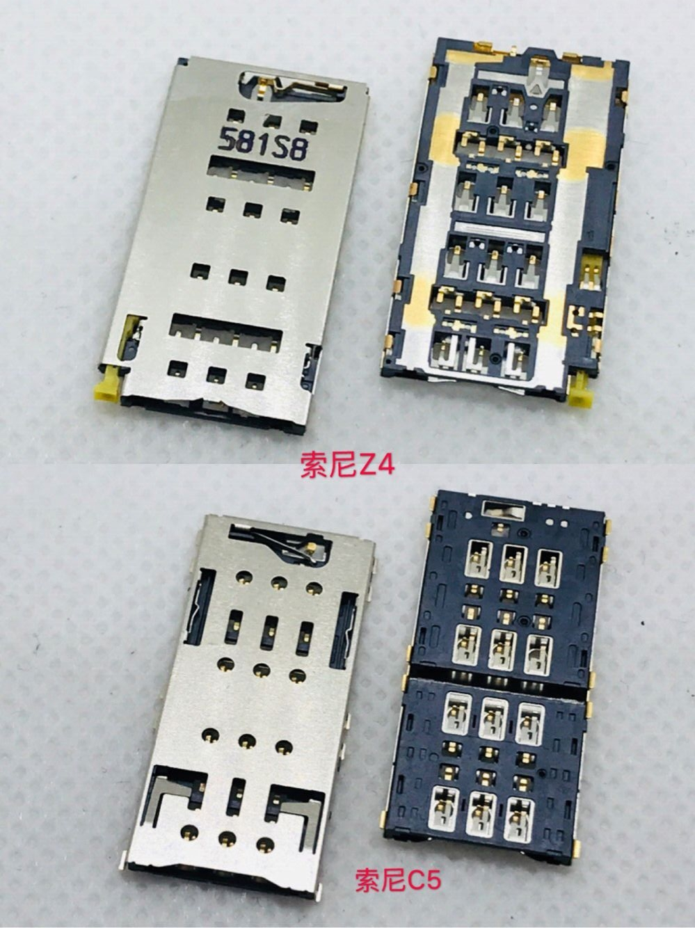 Z4 C5 Micro Dual <font><b>SIM</b></font> <font><b>Card</b></font> 2 in 1 Socket <font><b>Connector</b></font> <font><b>6</b></font> pin Slot Tray Holder Reader Smartphone Motherboard PCB Board Adapter Patch image