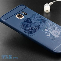 For Samsung Galaxy S6 Edge Case Silicon Luxury 3D Relief Soft Case For Samsung S 6