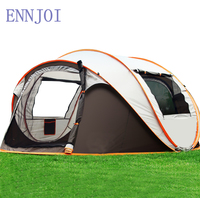 3 4Person Fully Automatic Open Up Large Single Layer Camping Tent Outdoor Waterproof Sunscreen Camping Hiking Tent
