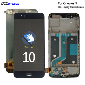 Original AMOLED For Oneplus 5 A5000 LCD Display Touch Screen Digitizer Assembly For One plus 5 Screen LCD Display With Frame 5 5inch touch screen with lcd display assembly screen for senseit e510 digitizer touch screen with lcd display parts