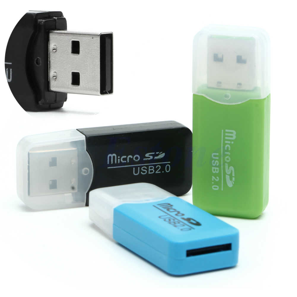 1PC USB 2.0 High Speed Micro SD TF T-Flash Memory Card Reader Adapter Fr 16G 32G