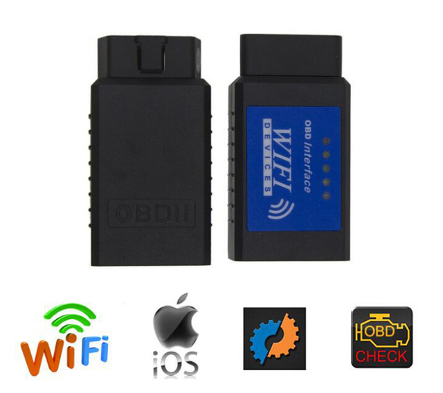 Newest Version ELM327 WIFI OBDII Diagnostic Wireless Scanner For IPhone Touch ELM 327 WIFI OBD 2 Scanner