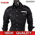 2016 Best Mens Fashion Cotton Designer Cross Line Slim Fit Dress man Shirts Tops Western Casual S~XXL 8396