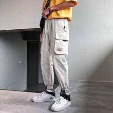 wholesale 2019 outdoor elastic waist hip hop cargo cotton multi pocket military tactical loose trekking trousers teenagers pants