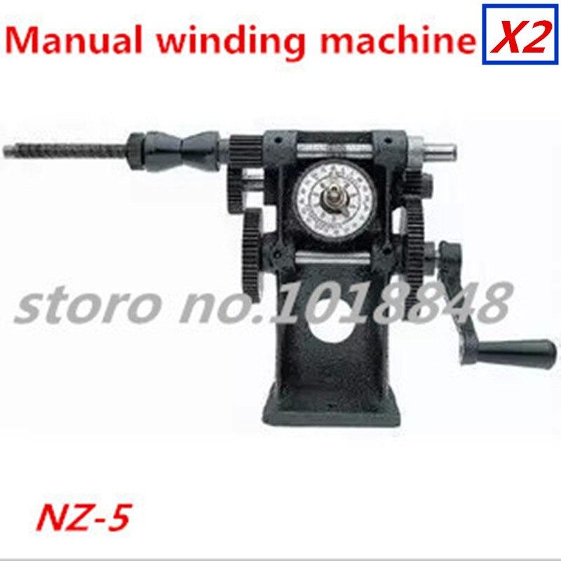 цена на 2pcs/Lot NZ-5 Manual Winding Machine dual-purpose Hand Coil counting winding machine Winder Freeshipping by EXPRESS