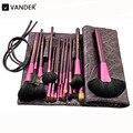 Vander 20 pcs Conjunto de Pincéis de Maquiagem de Luxo w/Saco Escova de Cabelo Sintético para Sombra Blending Foundation Pó Lábio Delineador