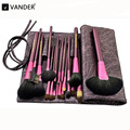 Vander 20pcs Luxurious Makeup Brushes Set w/ Brush Bag Synthetic Hair for Eyeshadow Blending Powder Foundation Lip Eyeliner