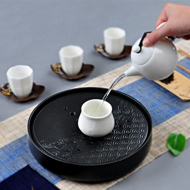 Ceramics Bamboo Tea Tray Water storage
