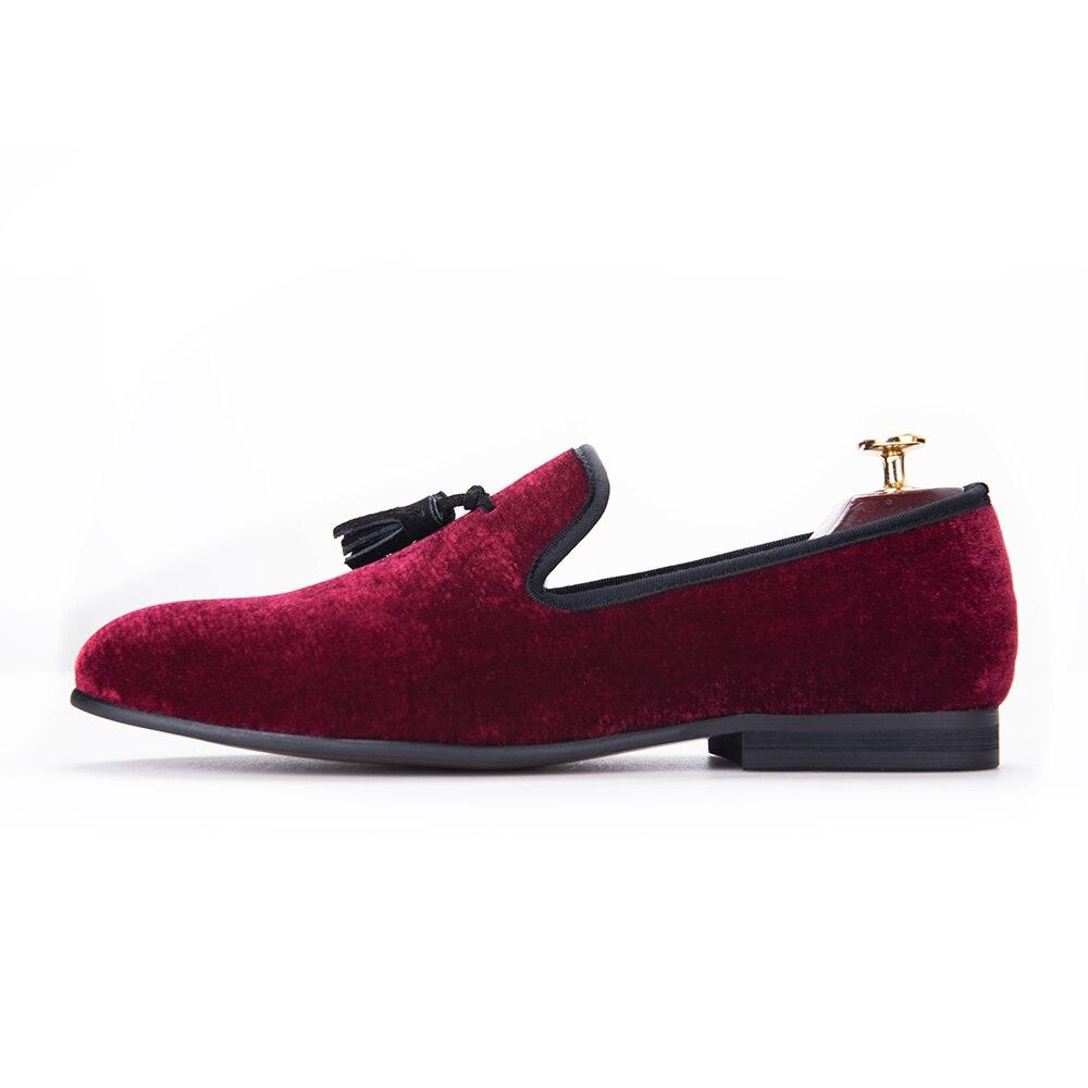 E Se Moda Casamento Homens Britânico Sapatos Vestem Dos Red Flats Schuh Partido Com Estilo Veludo Jeder De Sapato Shoes Borla R8awz