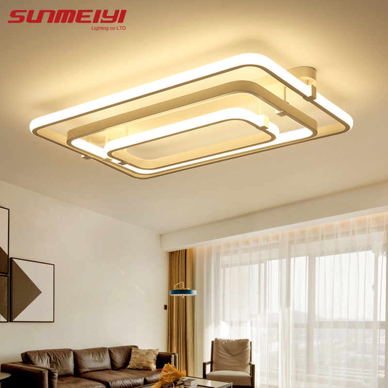 Remote control Dimming Led lamp Ceiling lights For Living room Bedroom deckenleuchten Modern Led Ceiling lights Lighting Fixture black white modern led ceiling lights for living study room bedroom rectangle remote control dimming luxury ceiling lamp fixture