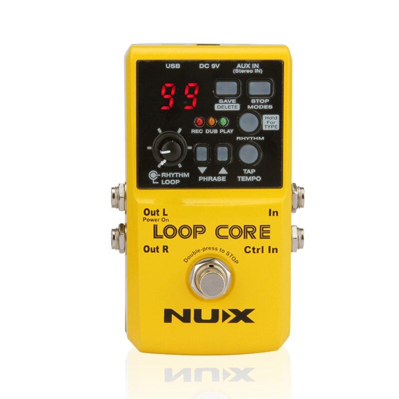 NUX Loop Core guitare pédale effets guitare tambour machine 6 heures enregistrement temps guitare pièces accessoires livraison gratuite