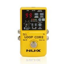 NUX Loop ядро Гитары педаль Гитары эффекты драм-машина 6 часов Запись время Гитары Запчасти Аксессуары; Бесплатная доставка