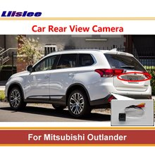 Liislee For Mitsubishi Outlander Rear View Back Up Camera Reverse Parking Camera License Plate Lamp Night Vision AUTO CAM