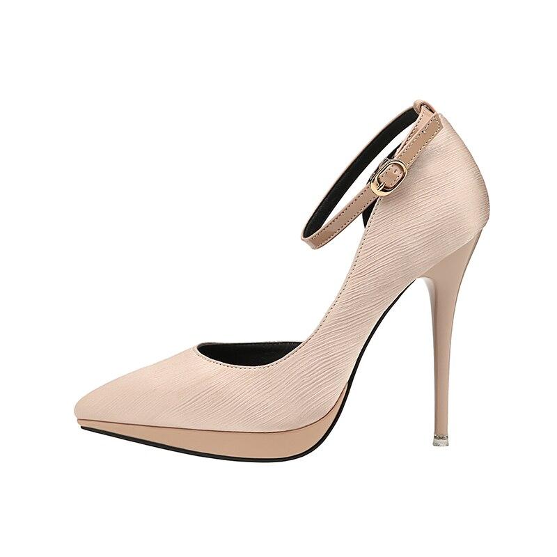 12cm Thin High Heels Satin Silk Pumps