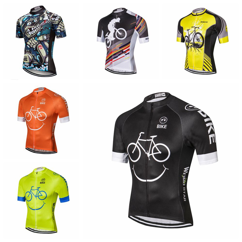 Weimostar 2019 Cycling Jersey Men's Bike Summer Short Slleve Bicycle Ropa Ciclismo