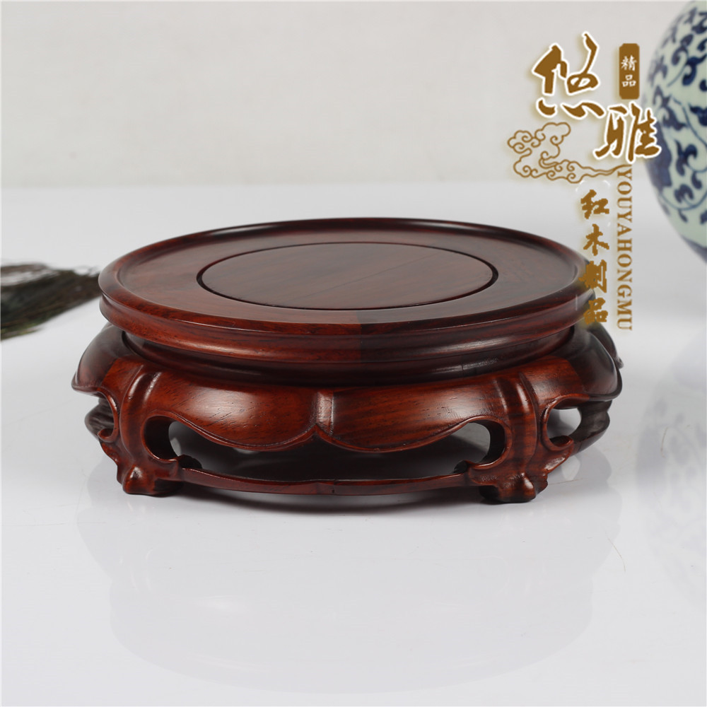 Red wood Art work collection teapot base stand home decoration pottedplant bonsai fish tank pedestal