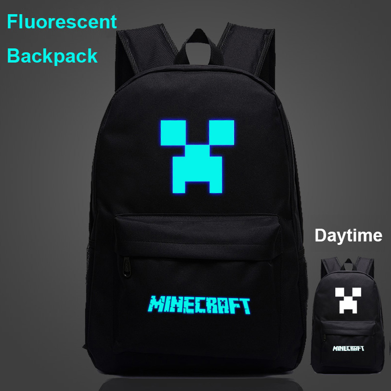 New Arrival Minecraft Backpack Usb For Teens Student Bookbags Back To School Travel Gift Bag Men Boys Bagpack Minecraft Bag H244 Moderate Cost Men's Bags Luggage & Bags