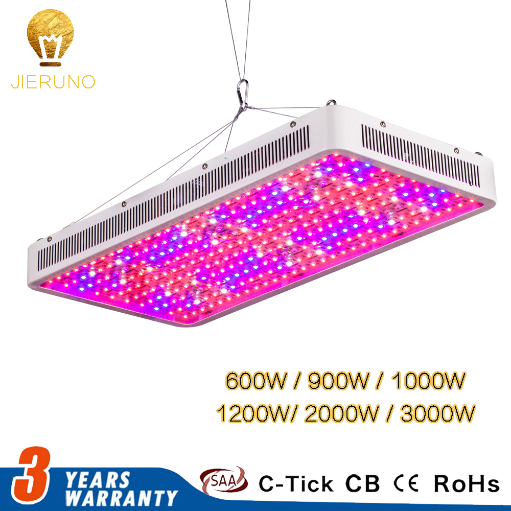 JIERNUO LED Grow Light 2000W 1200W 1000W 900W 600W Full Spectrum Greenhouse Grow Led Plant Lamp For Indoors 3000W double Chips цена