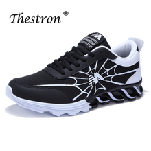 2019 New Sport Sneakers Running Shoes Men Black White Athletic Sneakers Spring Autumn Jogging Shoes for Men Breathable Runners tba brand sport shoes men 2016 new breathable men running shoes for men sneakers shock absorption men jogging athletic shoes
