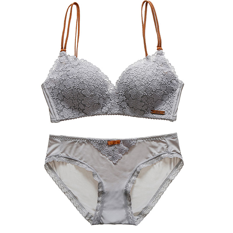 c00b5a181d8 Cotton comfortable lingerie sets wireless bralette lace bra set sexy  underwear women embroidery young girls push up intimates-in Bra   Brief Sets  from ...