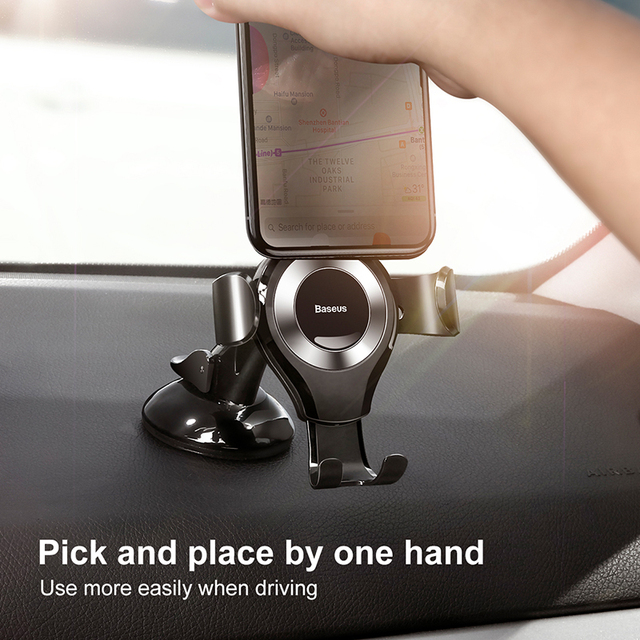 Baseus Gravity Car Phone Holder For iPhone 11 Pro Max Samsung Suction Cup Car Holder For Phone in Car Mobile Phone Holder Stand 2