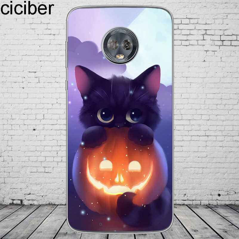 Ciciber かわいい動物猫カバーモトローラモト C Z2 Z3 1 P30 G4 G5 G5S G6 E3 E4 E5 再生プラスパワー M X4 電話ケースソフト TPU