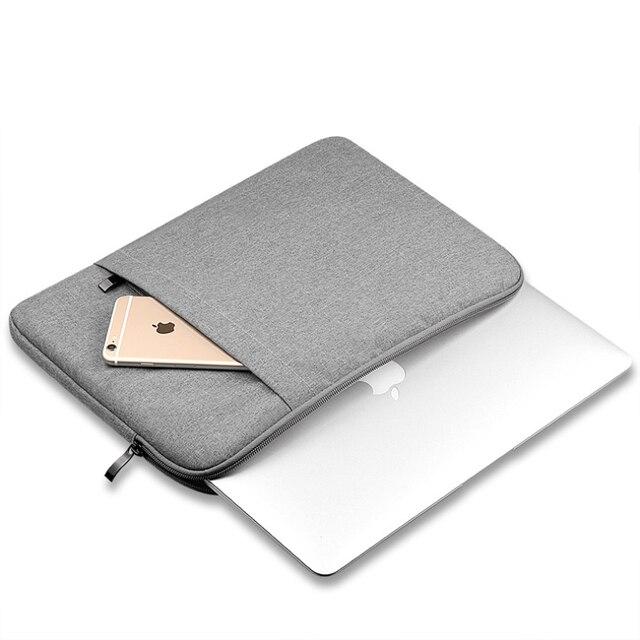 ナイロンラップトップスリーブノートブックバッグポーチケース Macbook Air 11 13 12 15 プロ 13.3 15.4 網膜ユニセックスライナースリーブ xiaomi 空気