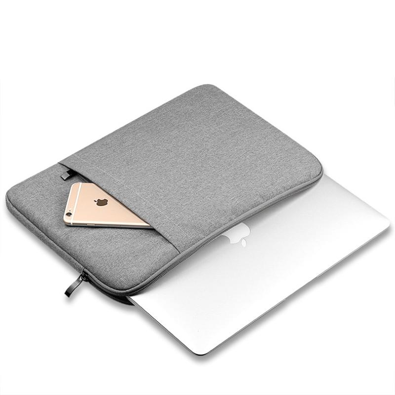 Nylon manga del ordenador portátil Notebook bolsa caso para Macbook Air 11 aire 13 12 15 13,3 Pro 15,4 Retina Unisex de manga para Xiaomi aire