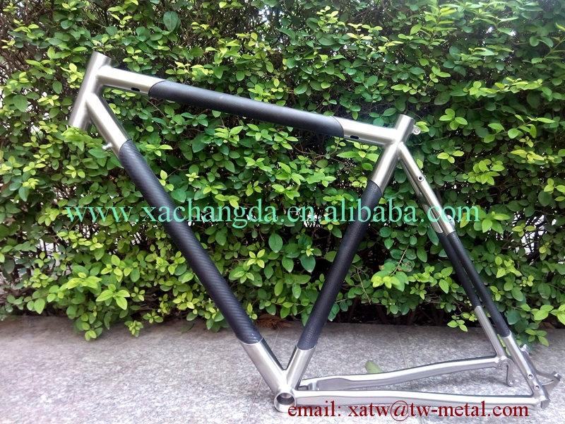 De titanio y fibra de carbono mtb cuadro de la bicicleta marco de la ...