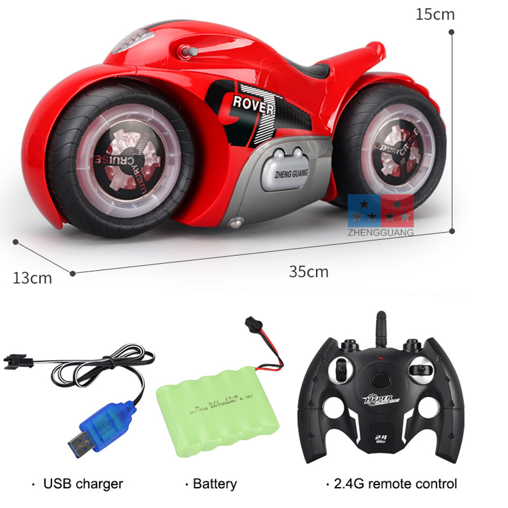 RC Drift Motorcycle Electric Motorcycle Motor Mini Moto RC Motorcycle Child Flashing LED Light 20mins Playing Strong