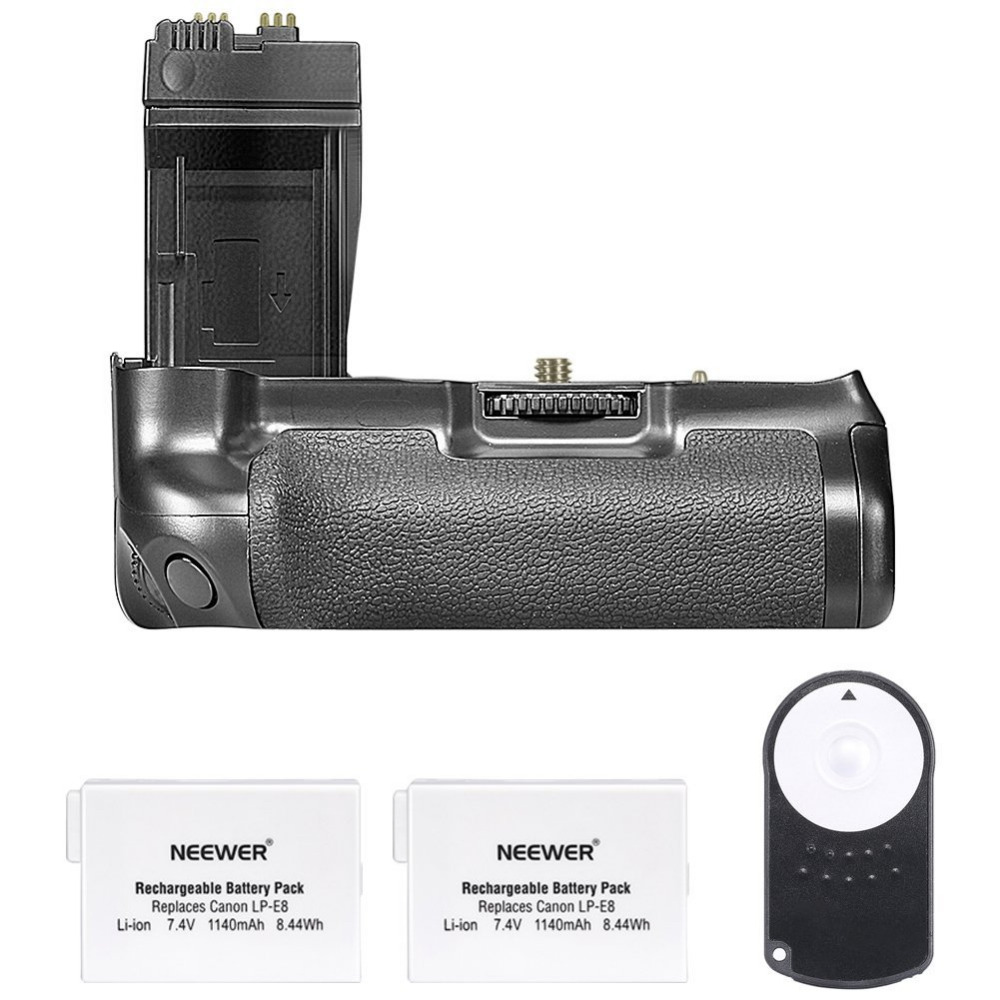 Neewer remplacement batterie Grip BG-E8 pour Canon550D/600D/650D/700D rebelle T2i/T3i/T4i/T5i