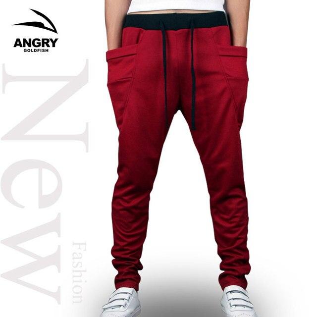 2a625c3e44 Harem Pants New Style Fashion 2018 Casual Skinny Sweatpants Pants Trousers  Drop Crotch Pants Men Joggers