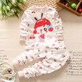 Дети Осень Зима домашняя одежда наборы Детские футболки + брюки 2 шт./компл. мальчики тепло майка сна одежда наборы
