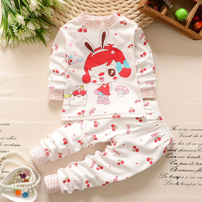 Kids Autumn Winter indoor clothing sets Children T-shirt+ pant 2pcs/set boys girls warmly undershirt sleep clothes sets 2015 new autumn winter warm boys girls suit children s sets baby boys hooded clothing set girl kids sets sweatshirts and pant