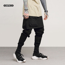 5bf9871307c30 Pantalones de chándal para hombre moda Casual Falda pantalón calle Cargo  Rock Punk Hip Hop bailarín Harem pantalón Jogger