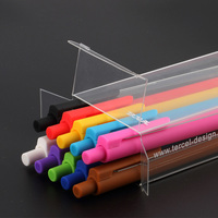 New Office School Gel Ink Pen 10PCS Set 0 5mm PLASTIC Non Erasable Transparent Rod Pen