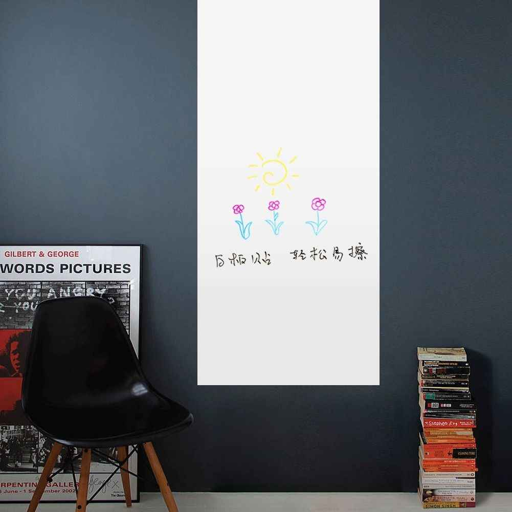 Removable Whiteboard Wall Sticker Kids Bedroom Drawing PVC Erasable White Board Blank Wall Stickers