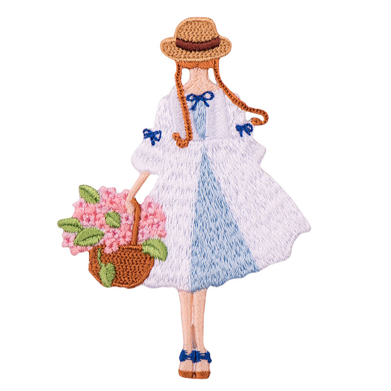 Fresh Flower Season Girls Embroidery And Ironing Clothes